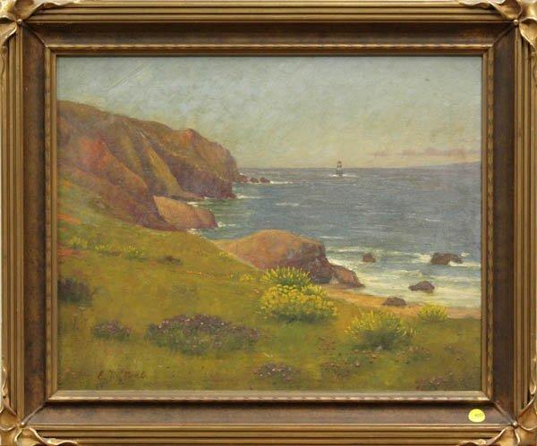 4003: Painting, Coastline in Summer
