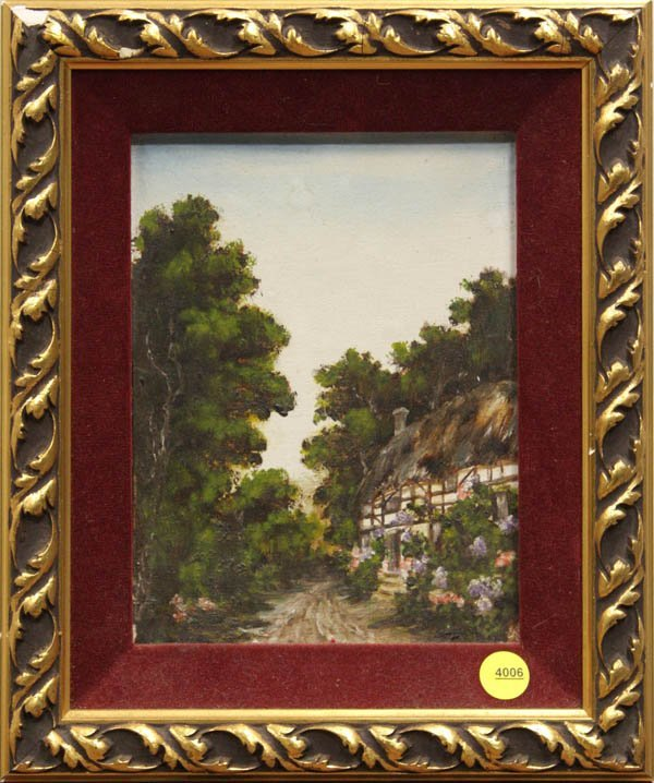 4006: Painting, Country Lane Landscape