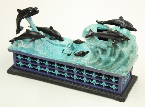 4014: Cast iron figural bank