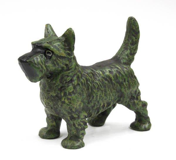 4020: Cast iron Scottish Terrier door stop