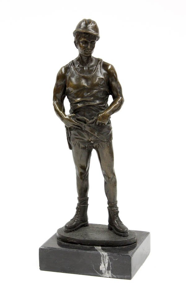 4023: Bronze figure, The Carpenter