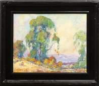 4414: Painting, James Dudley Slay III, Landscape Lake