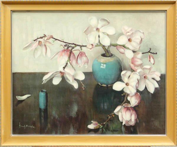 4426: Print, Frans Oerder (after), Still Life Magnolias