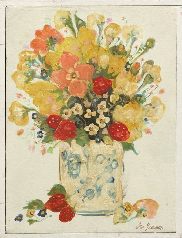 4453: Painting, Ira Yeager, Still Life with Flowers