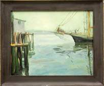 4462: Painting, Jane Peterson (manner of), Boat Hull