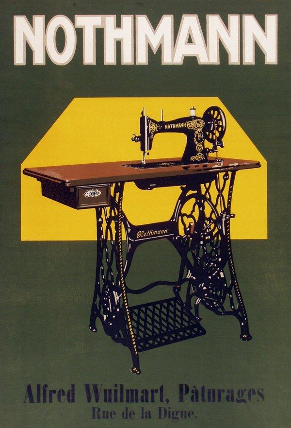 4772: Poster, Nothmann, Alfred Wuilmart, Sewing Machine