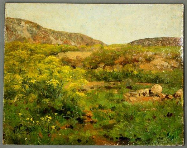 4797: Painting, Adolphe F. Lejeune, French Landscape