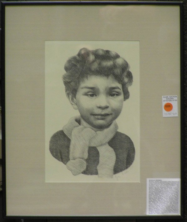 4004: Framed lithograph, George Biddle