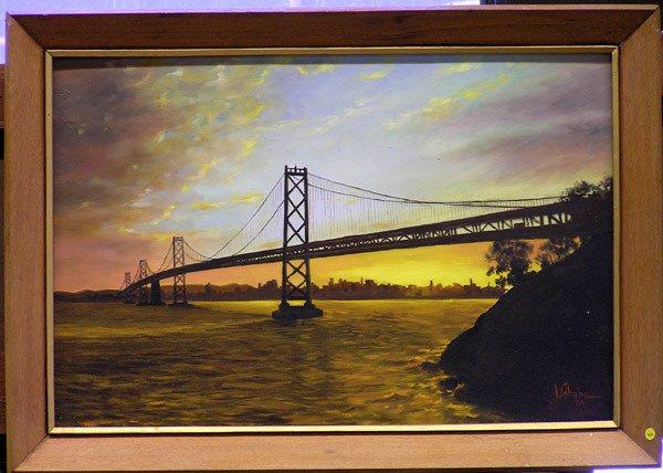 4005: I. Gabebe, painting of San Francisco