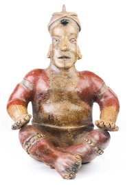A Pre Columbian Jalisco seated figure West Mexico