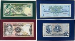 Large group of uncirculated banknotes of various