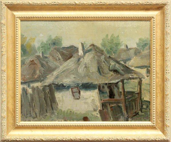2007: Painting, Julian Rix (attrib. to), Village