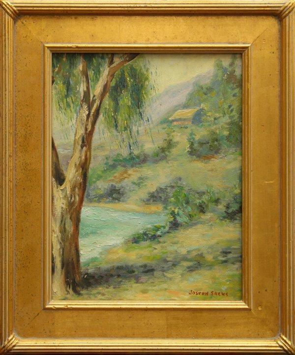 2010: Painting, Joseph Sacks, Lanscape with Lake