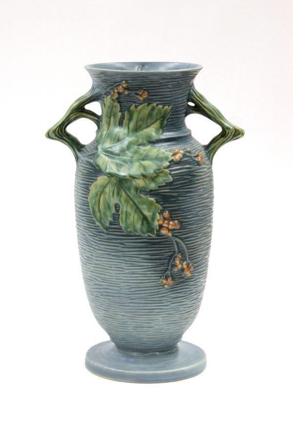 2011: Roseville Bushberry two handled vase