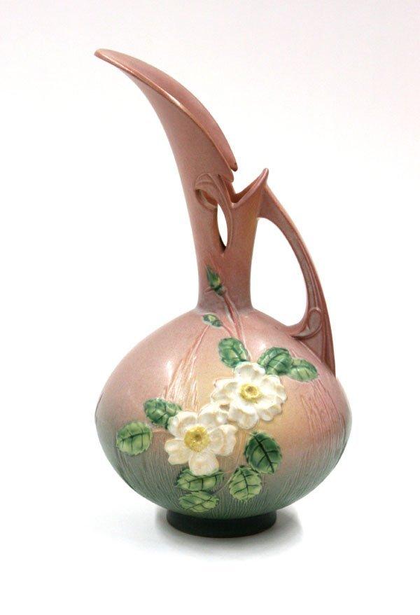 2013: Roseville White Rose ewer