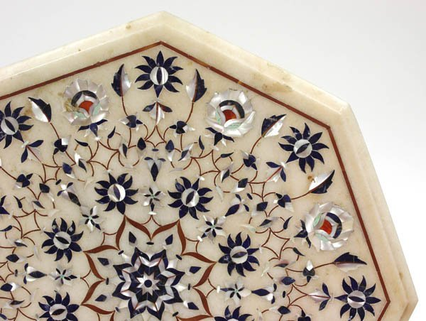 2028: Agra inlaid marble table top - 2