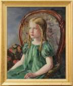 2196 Painting 1930 Portrait of a Young Girl in Green