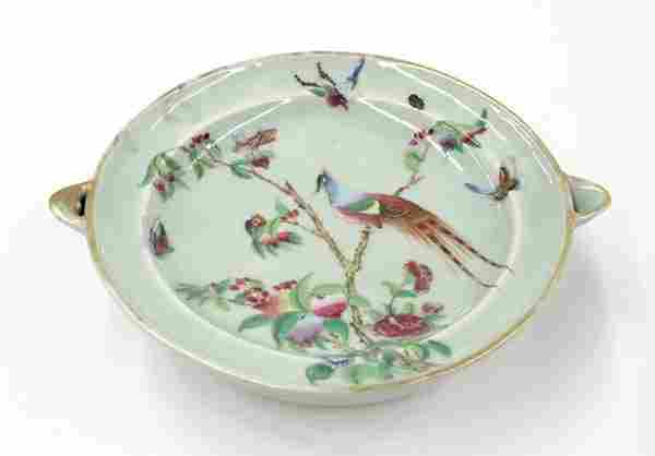 Chinese Export Warming Dish, Qing Dynasty