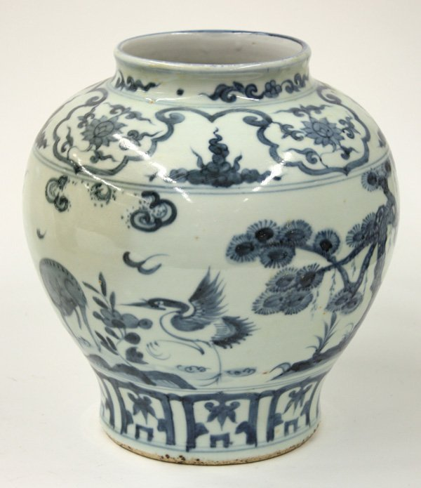 2626: Chinese Blue-and-White Porcelain Pot