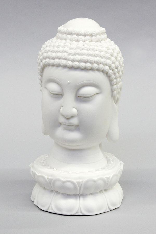 2: Chinese Porcelain Buddha Head, 20th Century