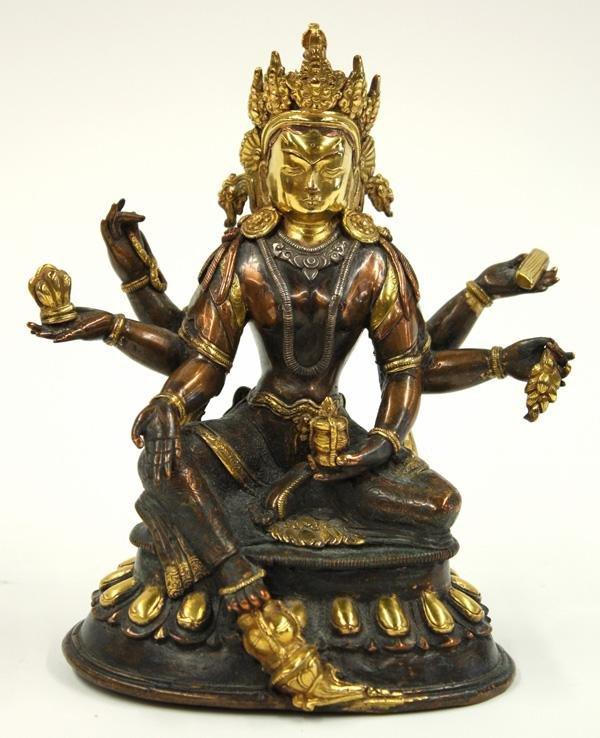 4: Sino-Tibetan Copper-alloy Tantric Female Image