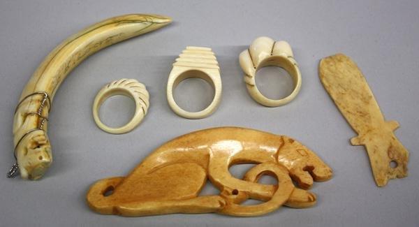 9: Ivory/Bone Jewelry and Ornaments