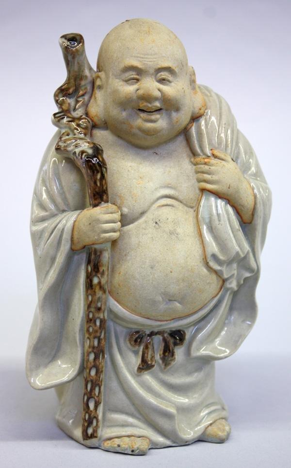10: Kutani Ceramic Hotei Figure