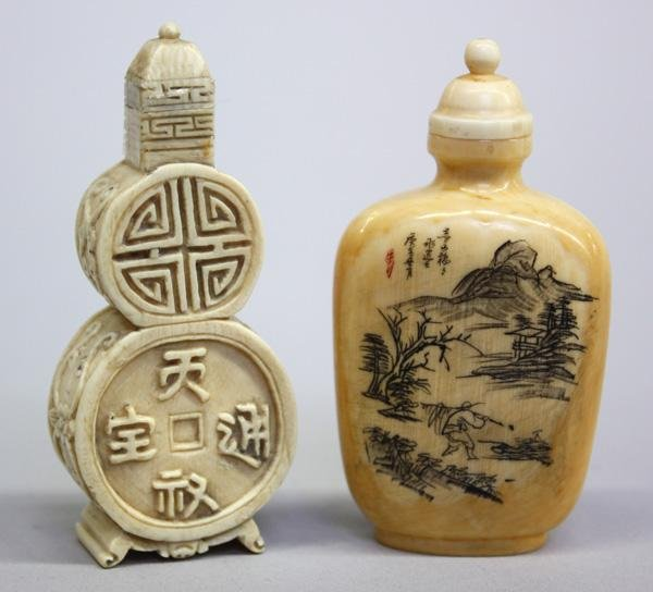 20: Chinese Ivory Snuff Bottles