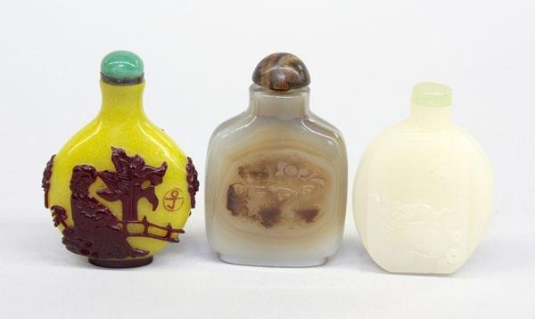 23: Chinese Hardstone/Glass Snuff Bottle