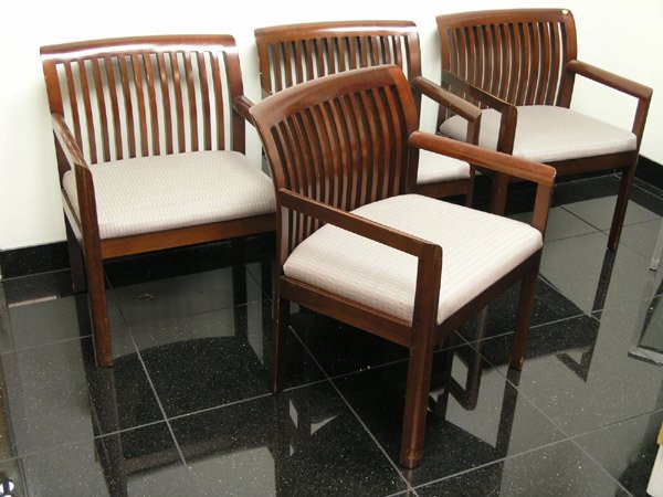 8012: Four comb-back armchairs