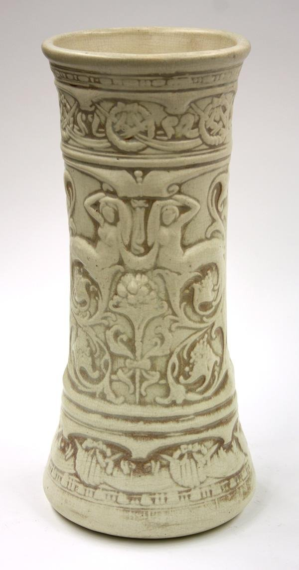 6000: Weller Ivory Glaze Vase