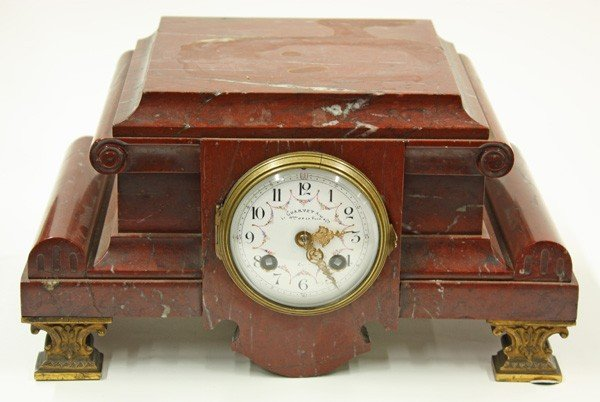 6017: French Marble Mantle Clock