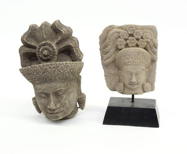 4000: Khmer Style Carved Stone Heads