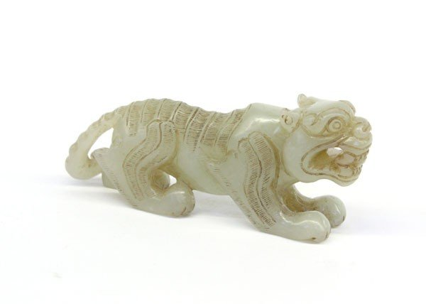 4007: Chinese Carved Jade Tiger Figurine