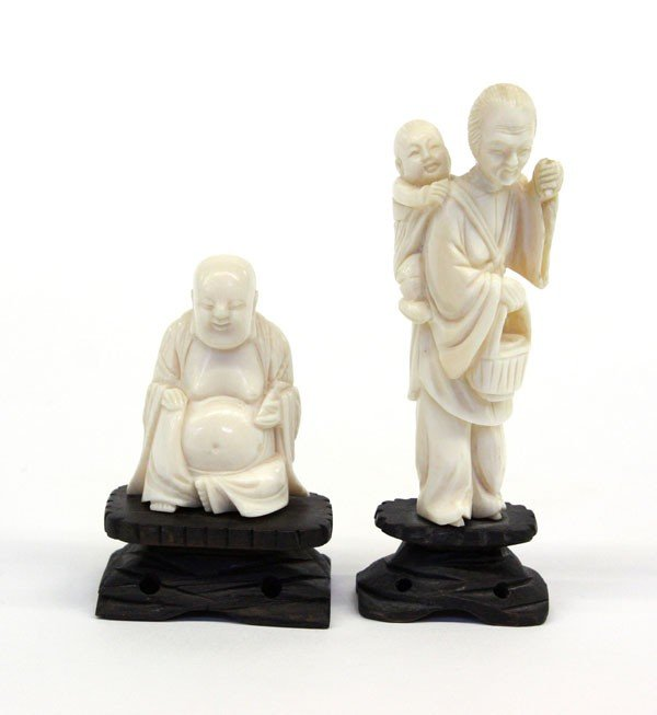 4009: Chinese Ivory Figuires