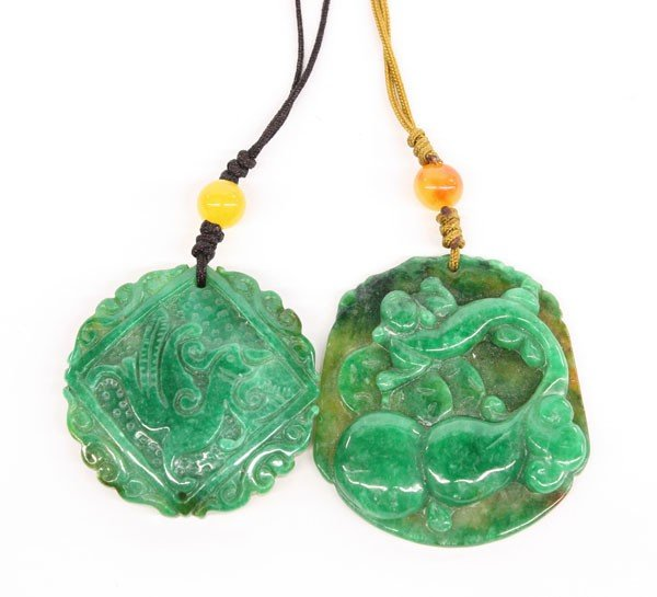 4012: Chinese Carved Jade Pendants