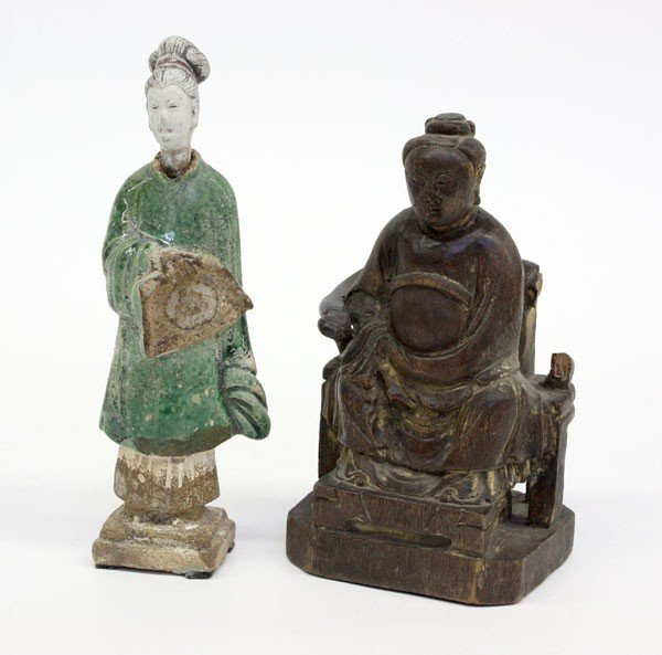 4017: Chinese Wood and Ceramic Figurines