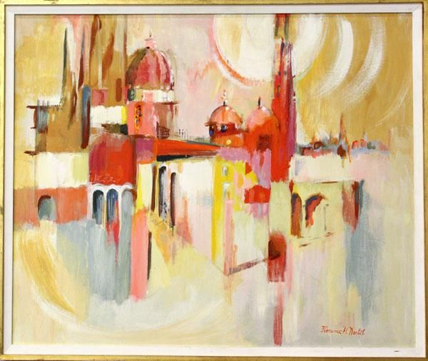 Painting, Florence Nesbit, Bright City