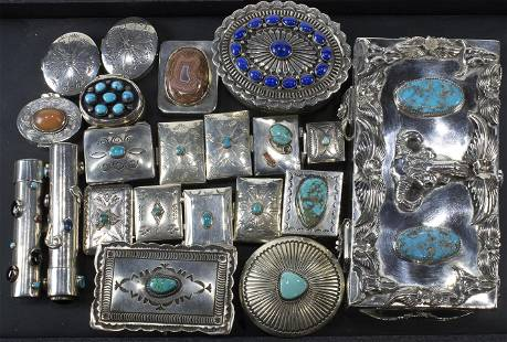 (lot of 21) Collection of Native American sterling