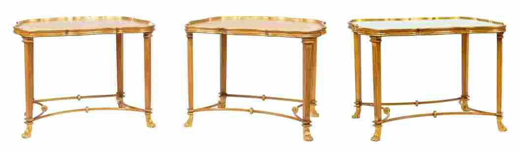 (lot of 3) Hollywood Regency style giltwood tables