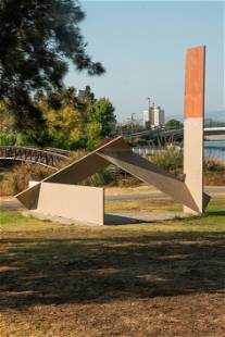 Outdoor Steel Sculpture, Peter Forakis