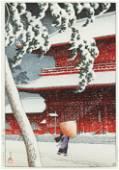 Kawase Hasui (1883-1957) - Shiba Zozoji Temple