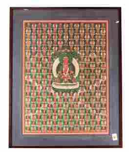 Sino-Tibetan thangka depicting Amitayus