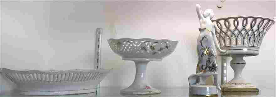 (lot of 4) Mostly German porcelains: Rosenthal figure