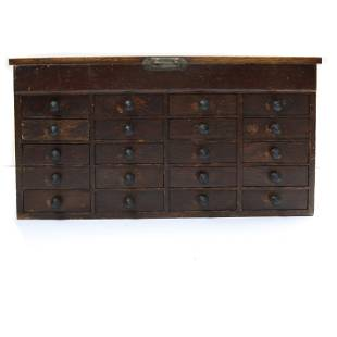 Arts & Crafts oak salesman cabinet 8