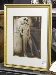 Marlena Dietrich Photo, Signed, Framed and Glazed,