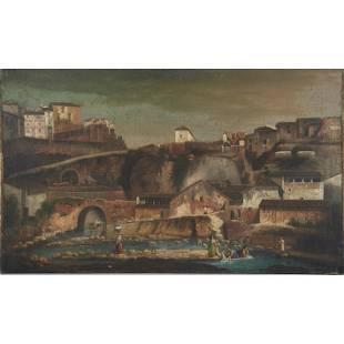 Painting, Mountain Village
