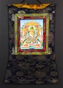 Himalayan thangka of Manjushri