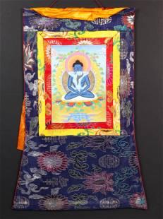Himalayan thangka of Samantabhadra and Consort