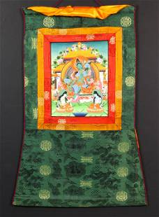Himalayan thangka of Green Tara